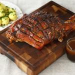 Pulpă de porc cu cremă de oțet balsamic