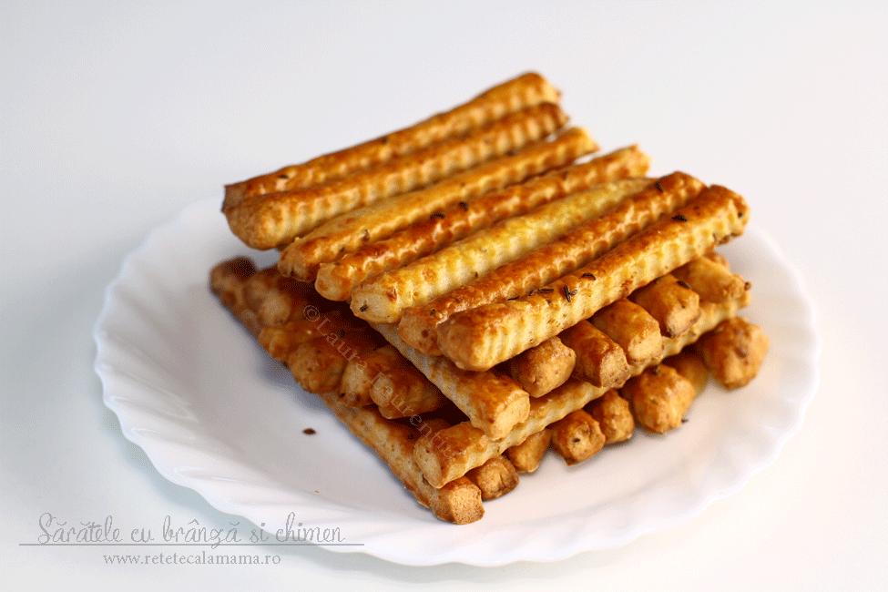 Sărățele cu brânză și chimen