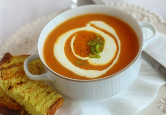 reteta supa crema de ardei copti