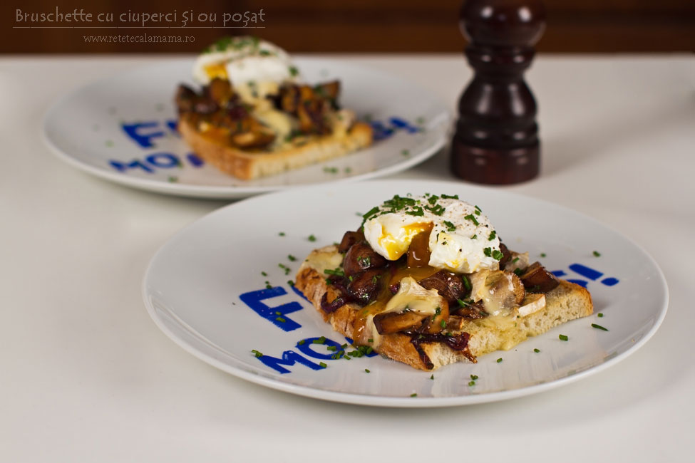 Bruschette cu ciuperci și ou poșat pentru un mic dejun de sărbătoare, rețetă video
