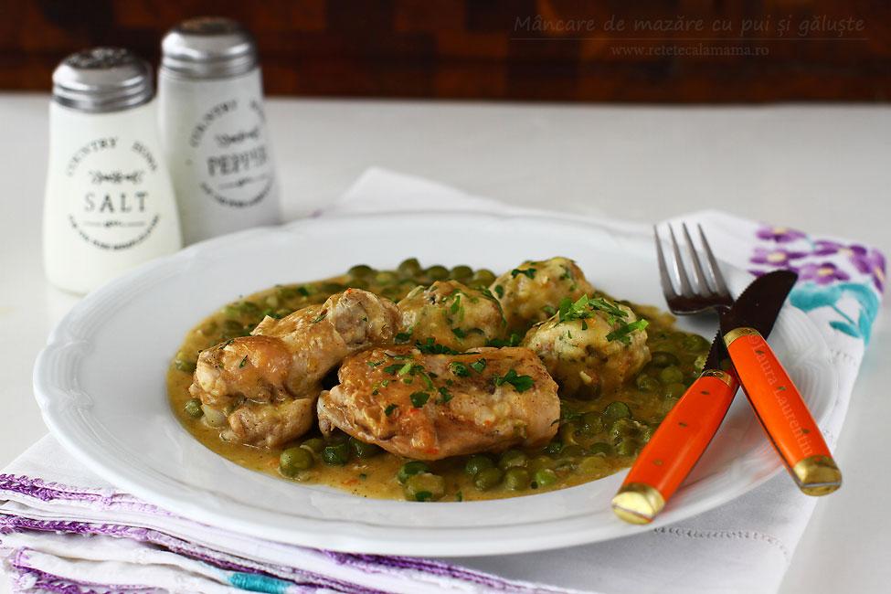 Preparare Mâncare de mazăre cu pui și găluște 9