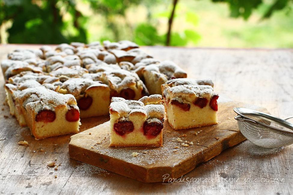 Prăjitură cu vișine sau cireșe, rețetă video