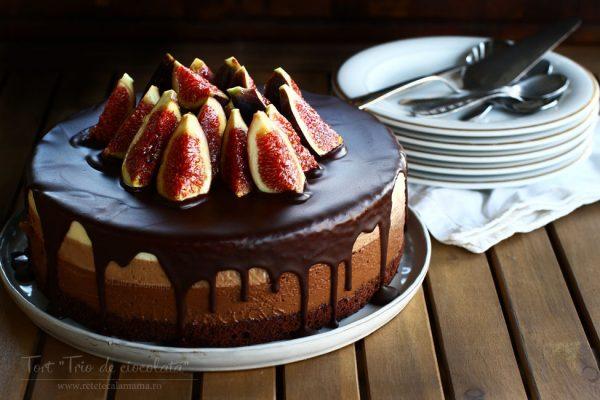 tort-trio-de-ciocolata-reteta-video-reteta-tort-cu-trei-feluri-de-ciocolata-video-tort-ciocolata-si-smochine