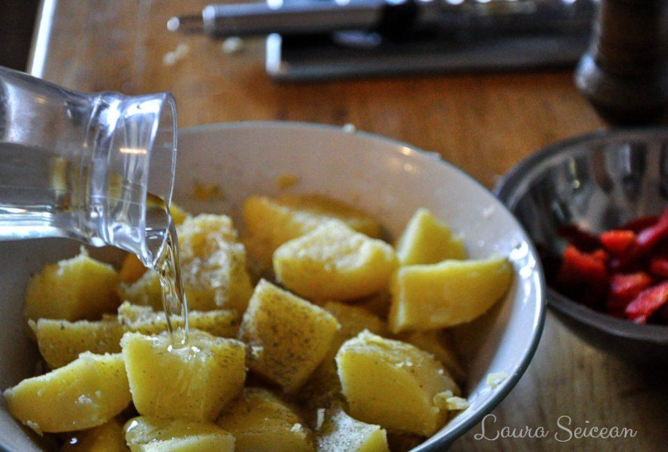 Preparare Salată orientală, rețetă simplă de post 6