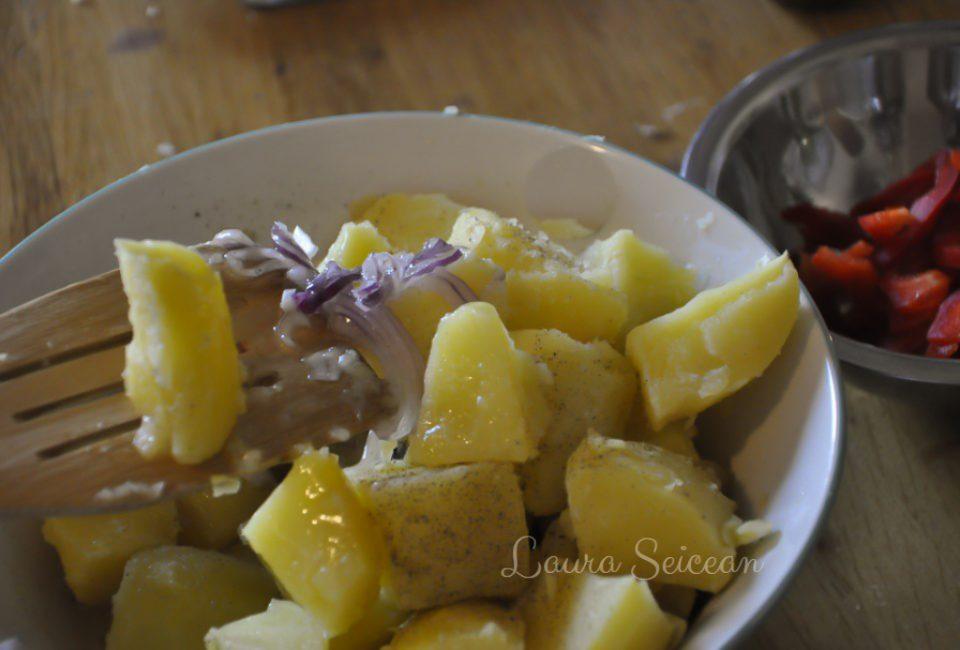 Preparare Salată orientală, rețetă simplă de post 7