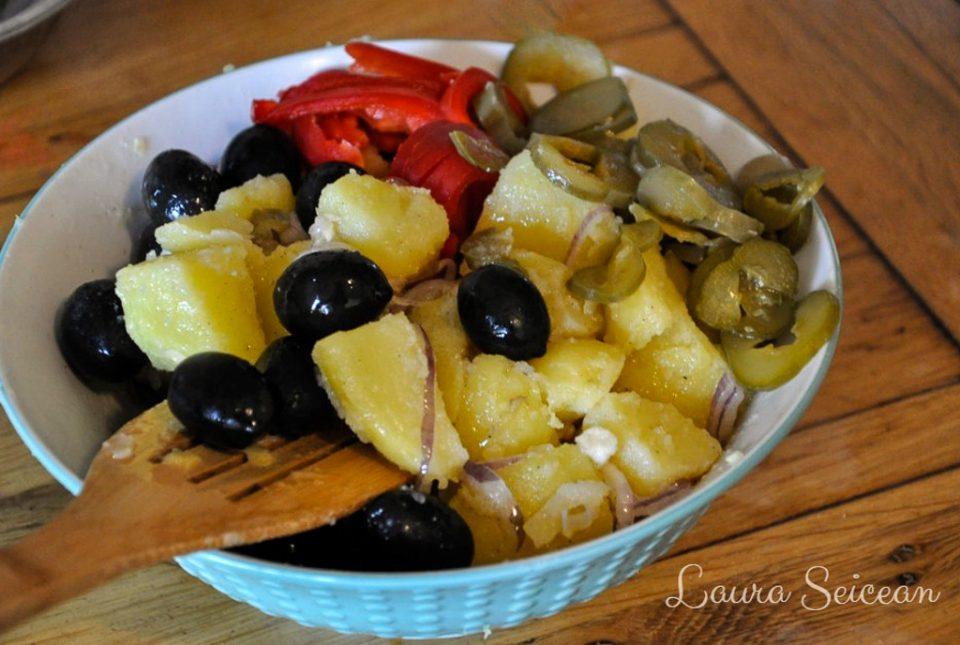 Preparare Salată orientală, rețetă simplă de post 9