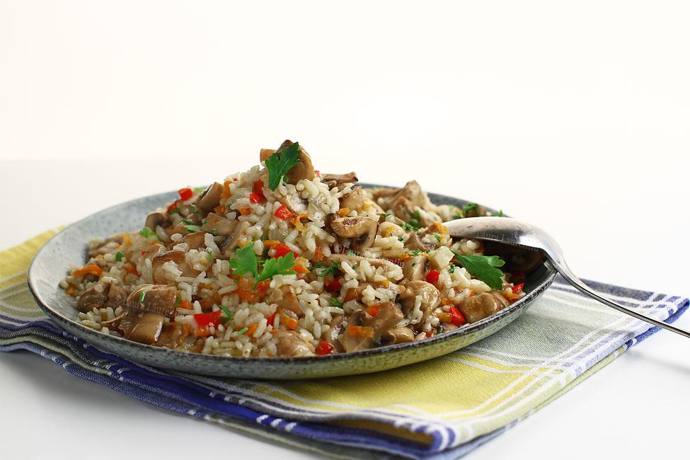 Pilaf de orez cu ciuperci, rețetă de post
