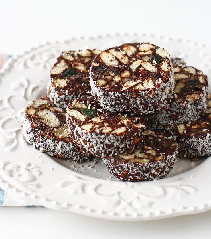 salam de biscuiti reteta de post cum se face salam de biscuiti de post cu rahat si gem