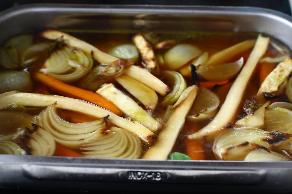 supa de baza din legume coapte pentru paturata pe crumpi