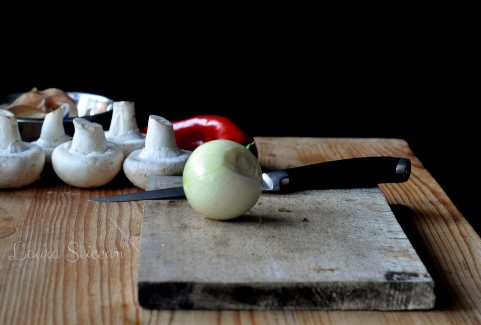 Preparare Ciuperci umplute la cuptor (de post) 2