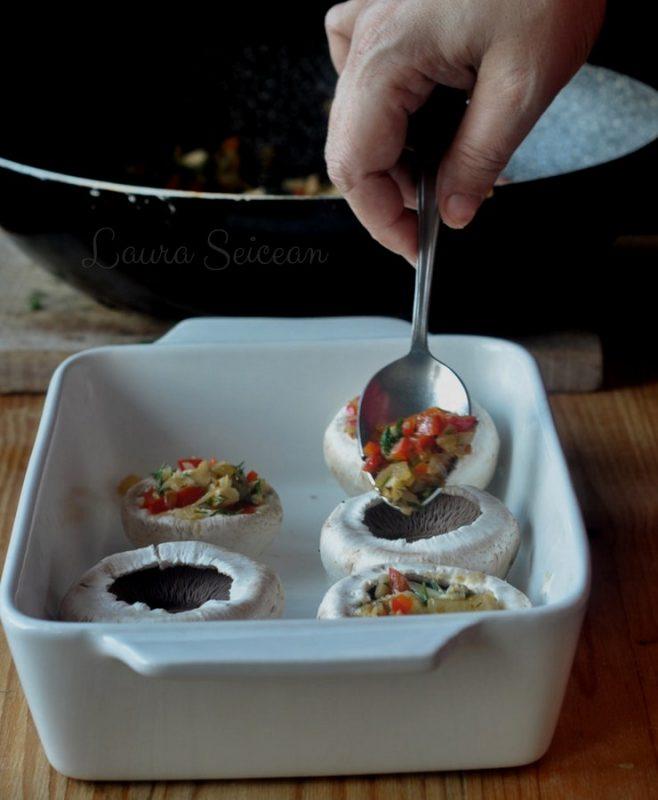 ciuperci umplute la cuptor reteta pas cu pas mod de preparare