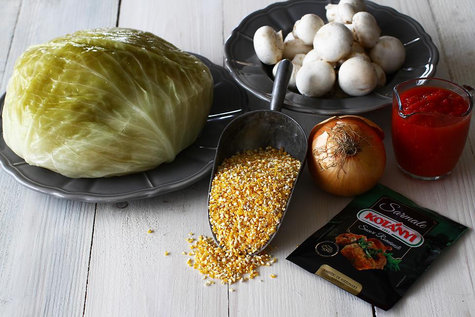 sarmale de post cu pasat crupe de porumb si ciuperci ingrediente