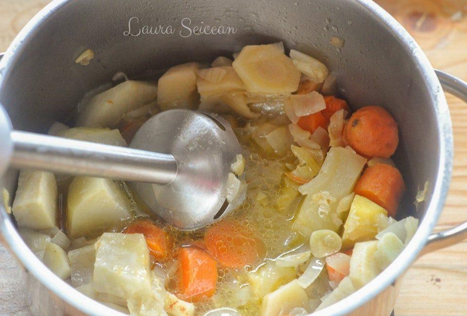 Preparare Supa cremă de legume (de post) 6
