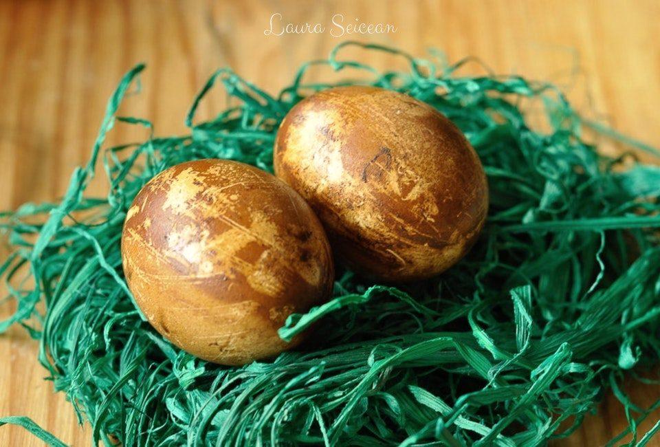 Preparare Ouă vopsite natural 17