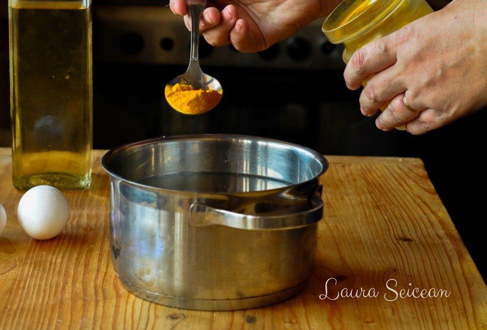 Preparare Ouă vopsite natural 12