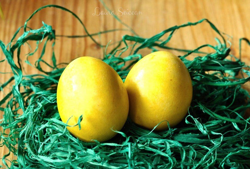 Preparare Ouă vopsite natural 14