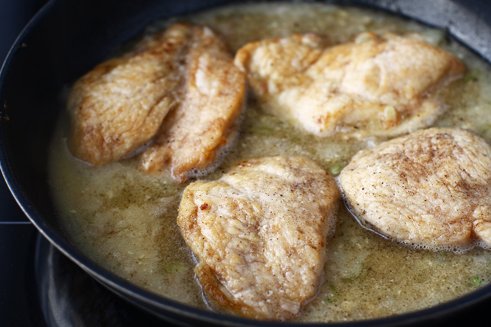 gatire piept de pui in sosul de mustar