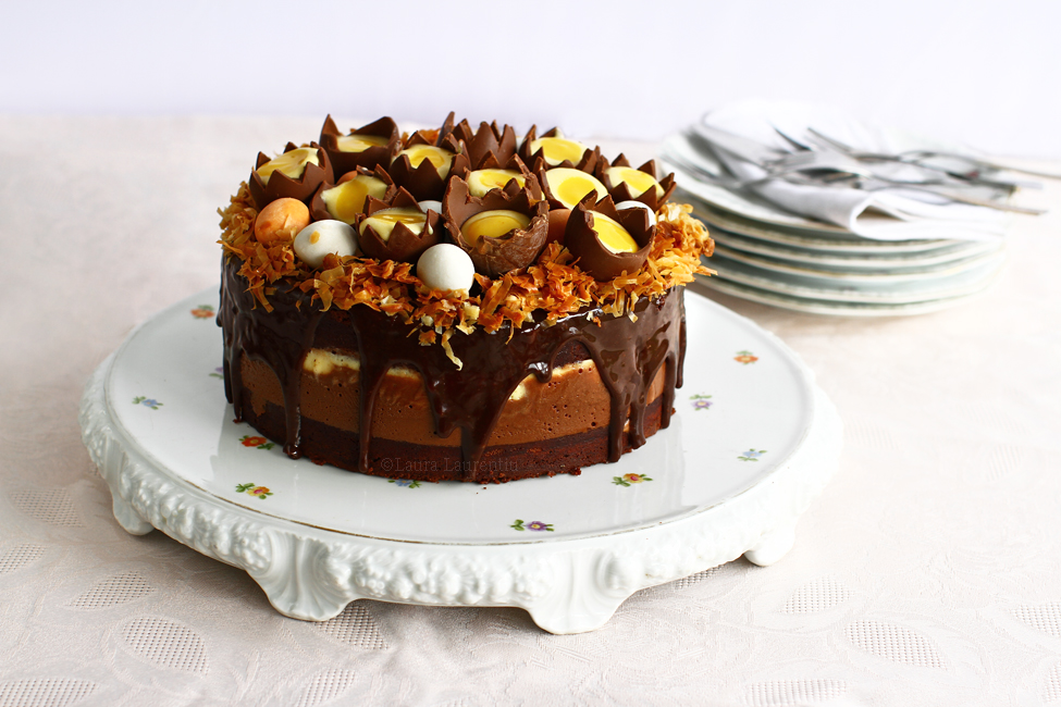 tort cuib de pasti cu ciocolata si portocale reteta pas cu pas laura laurentiu