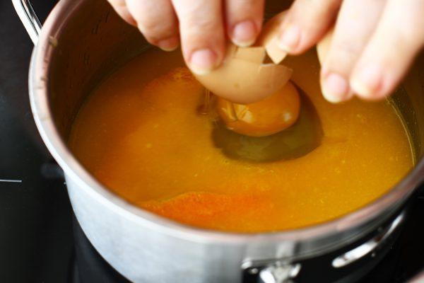 tort cuib de pasti preparare orange curd