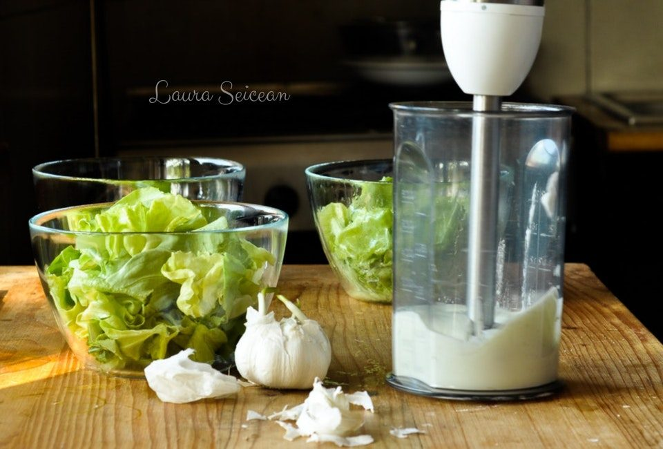 Preparare Salată verde în trei variante de dressing 16