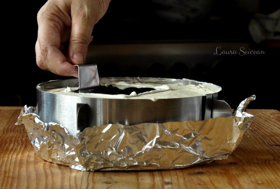 Preparare Cheesecake cu mascarpone și căpșuni 18