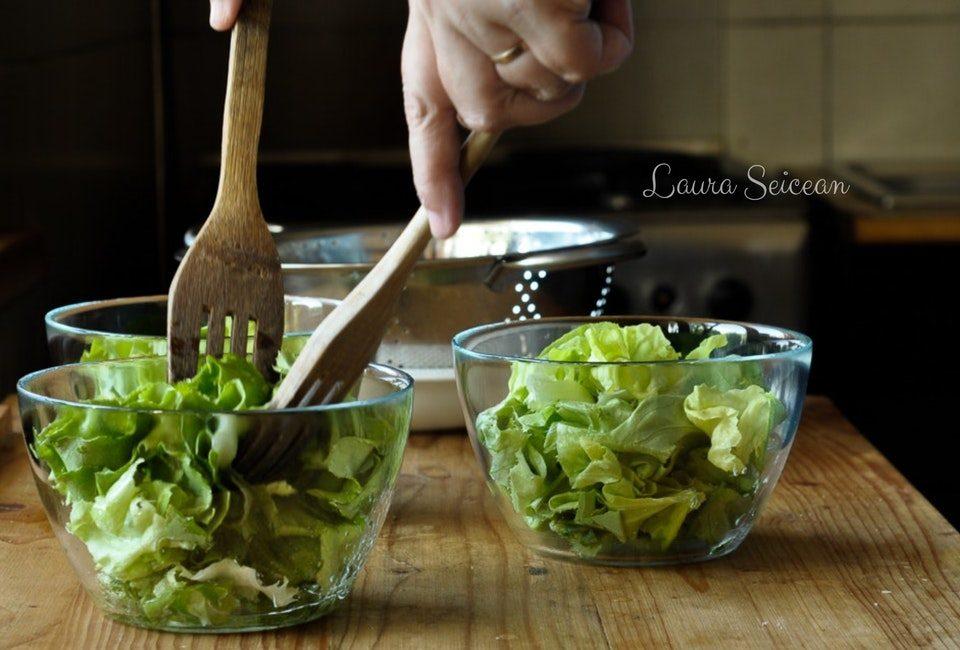 salata verde cu vinegreta simpla