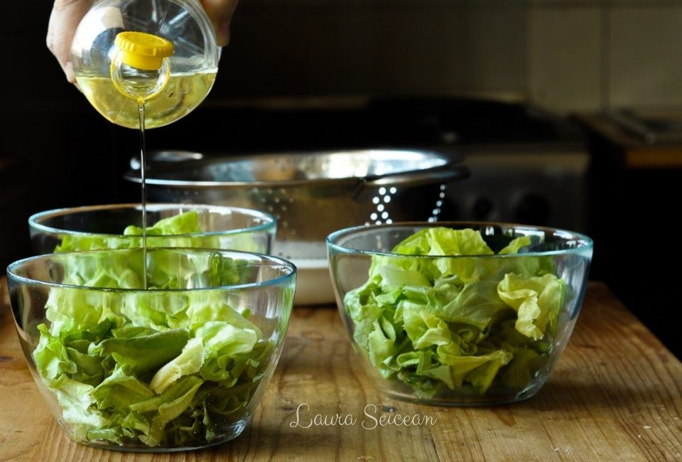Preparare Salată verde în trei variante de dressing 6