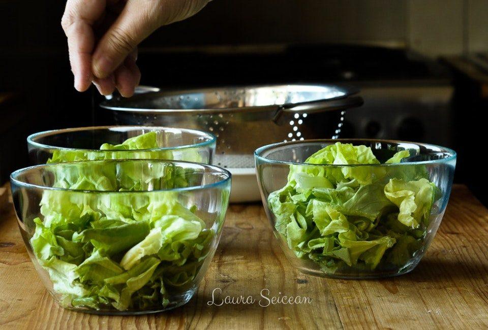Preparare Salată verde în trei variante de dressing 5