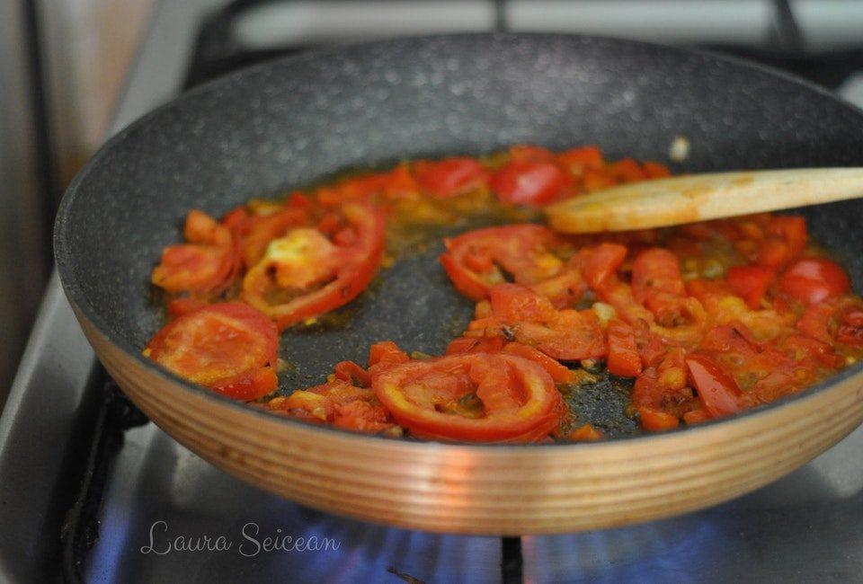 Preparare Omletă cu legume 5
