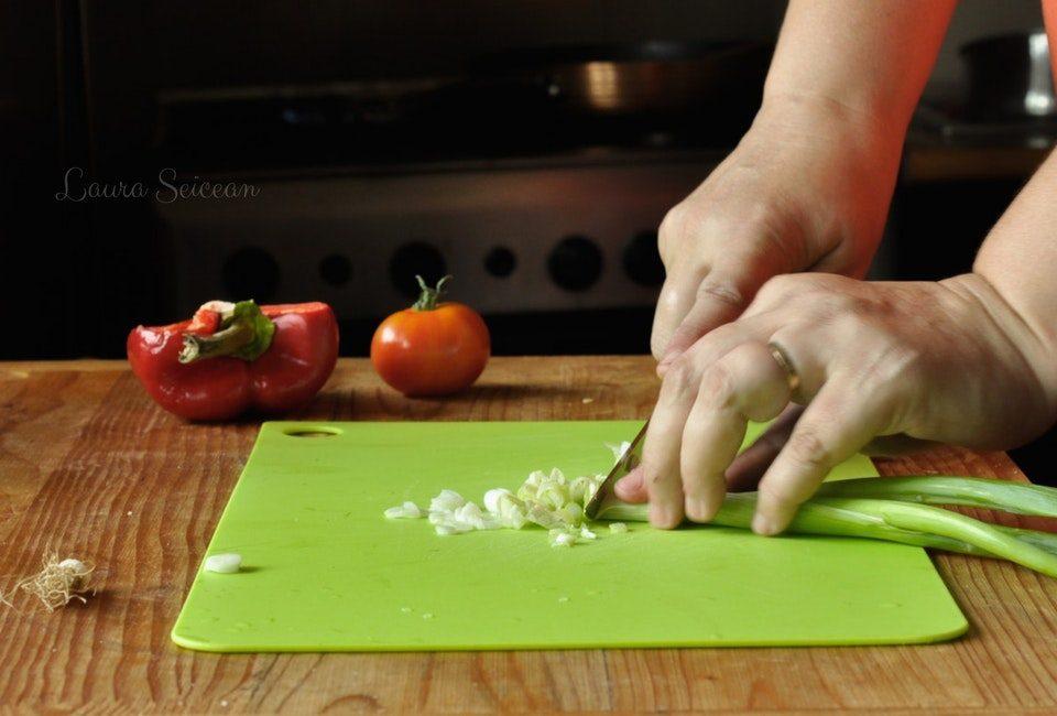 Preparare Omletă cu legume 1