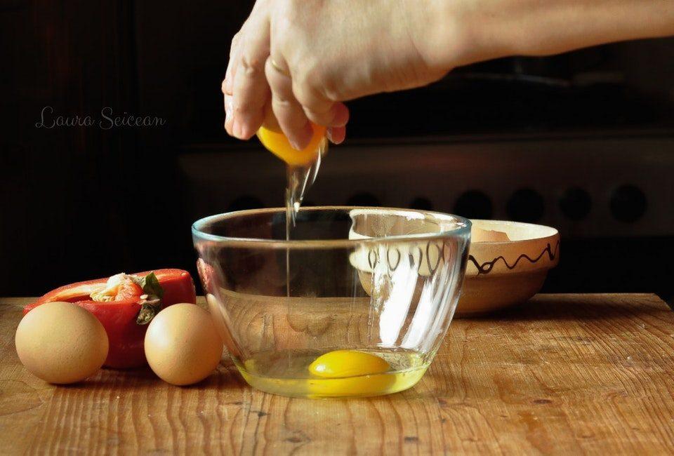 Preparare Omletă cu legume 6