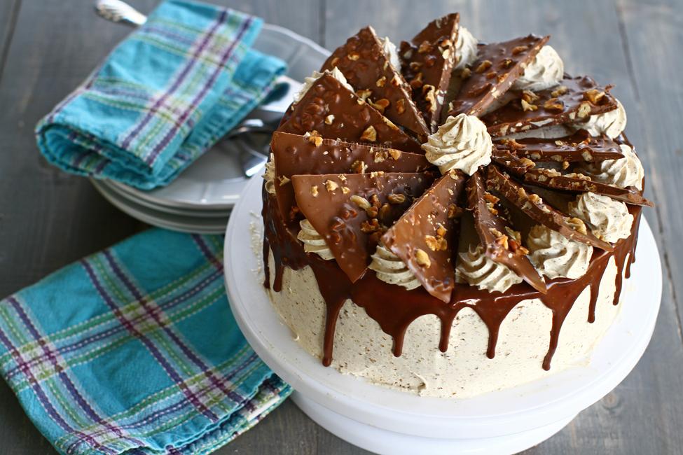 tort de nucă și ciocolată