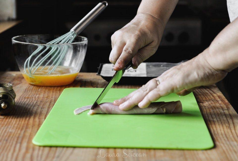 Preparare Omletă cu șuncă 4