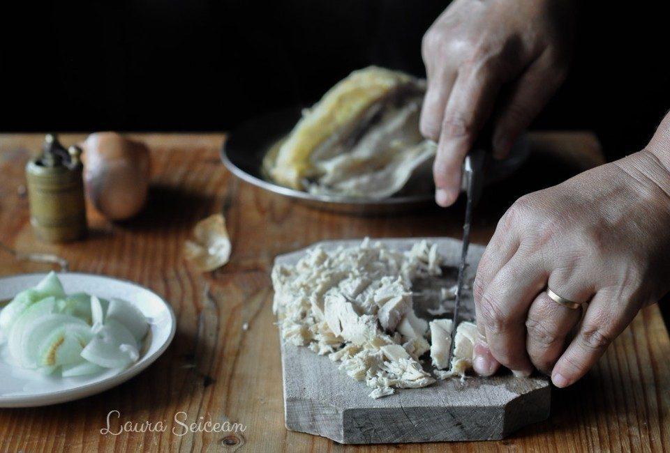 Preparare Omletă cu piept de pui 2
