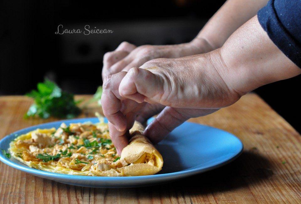 Preparare Omletă cu piept de pui 10
