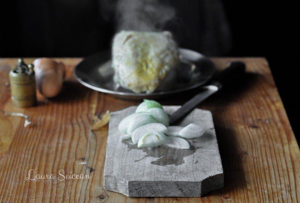 Preparare Omletă cu piept de pui 3