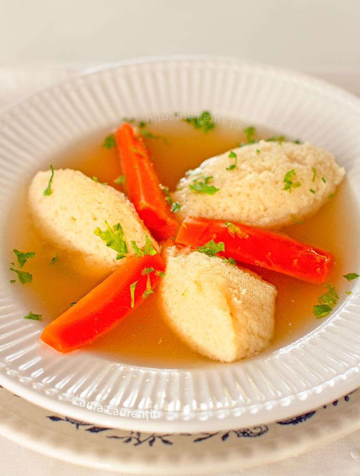 galuste de gris pufoase pentru supa reteta video laura laurentiu