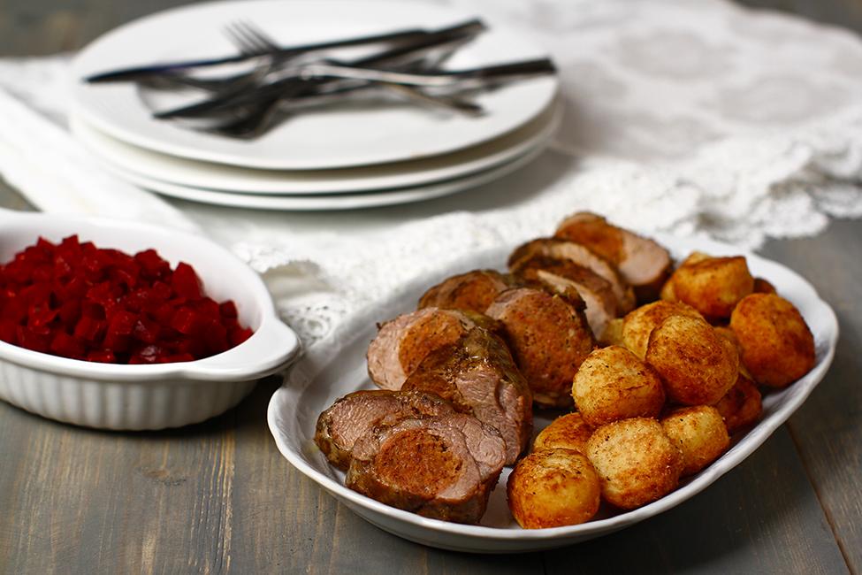 muschiulet de porc umplut copt in prapur reteta macelareasca traditionala pas cu pas