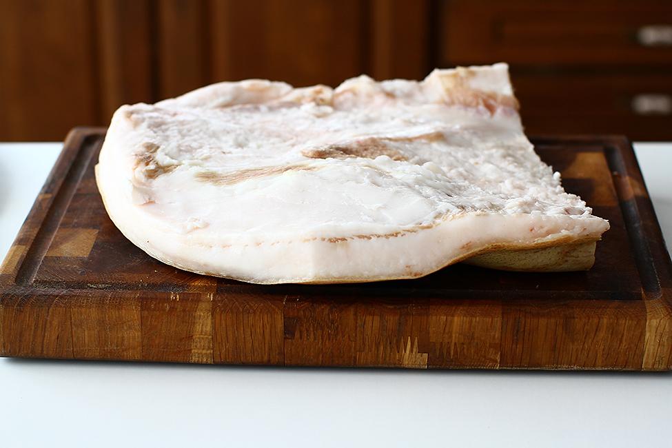 reteta de jumari si untura de porc facute in casa slanina cruda pentru jumari