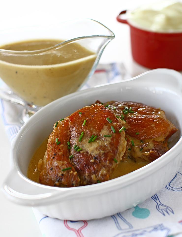 friptura inabusita de porc cu ceapa si mustar la tigaie reteta pas cu pas