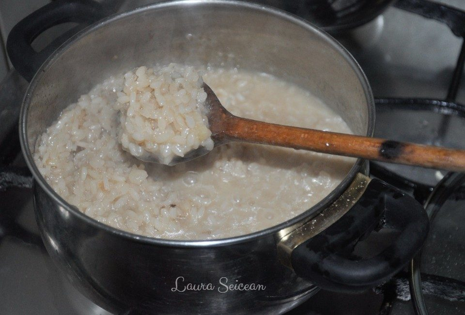 Preparare Risotto cu parmezan și verdeață 7