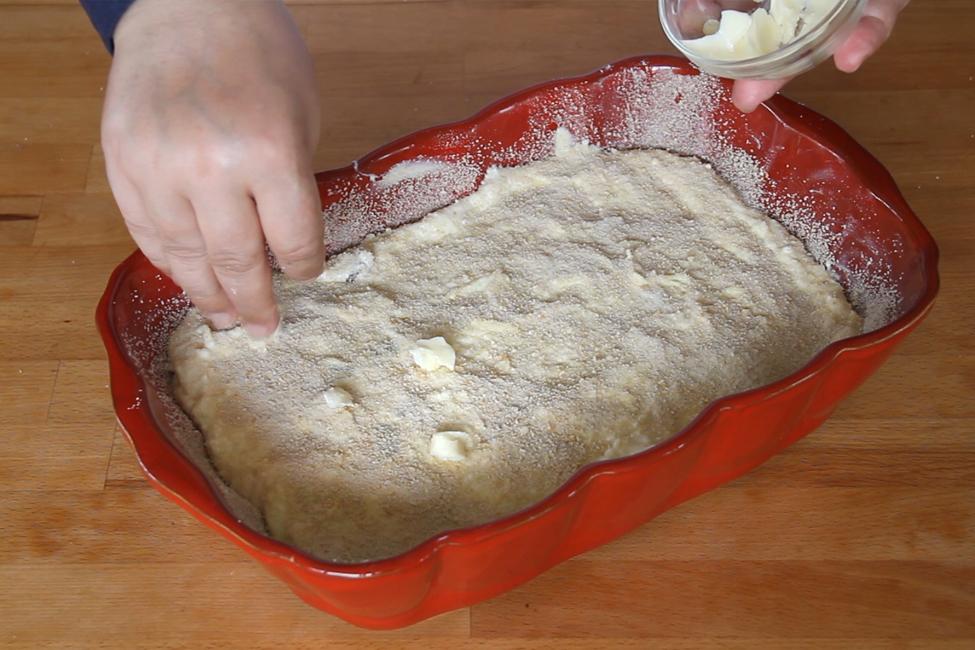 budinca de paste cu branza gata de cuptor
