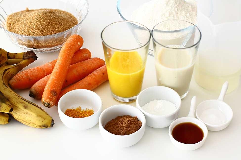 ingrediente pentru carrot cake vegan prajitura de post cu morcovi