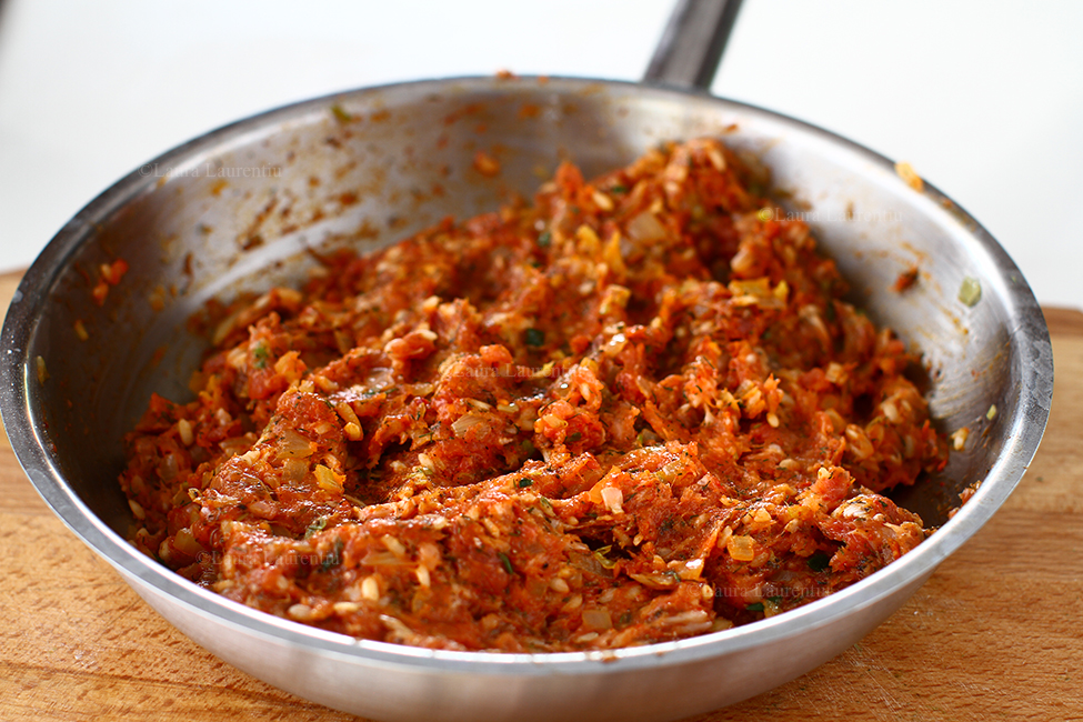 umplutura pentru sarmale cu carne tocata si ceapa calita