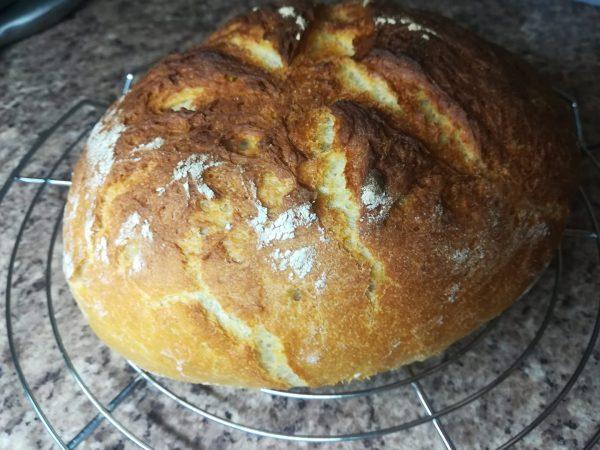 Pâine de casă cu cartofi încercată de Adrian Purcel