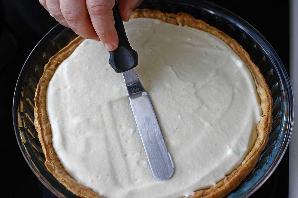 umplere tarta cu caise cu crema chiboust
