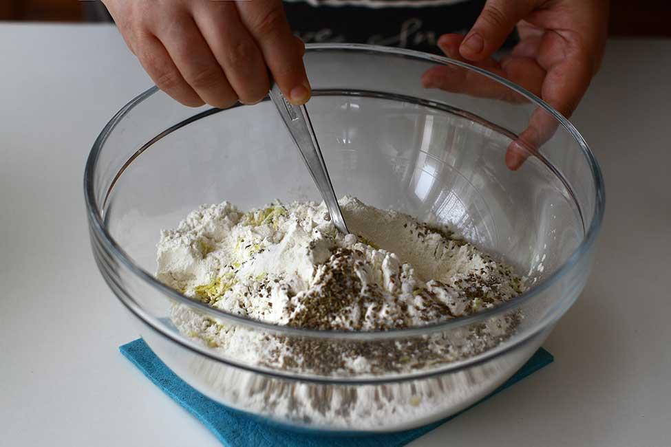 amestecare ingrediente uscate