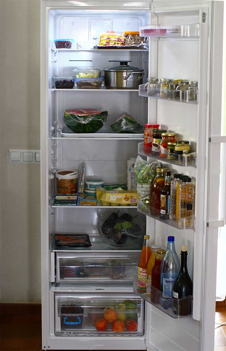 frigider plin cu alimente cum se pastreaza corect alimentele in frigider
