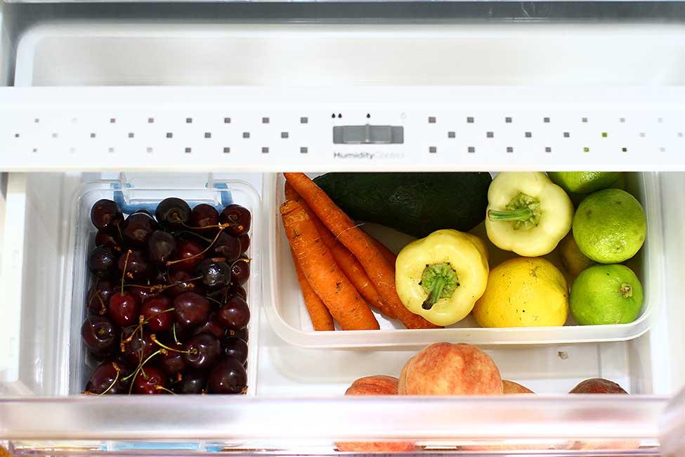 legume fructe sertar cu umiditate controlata in frigider