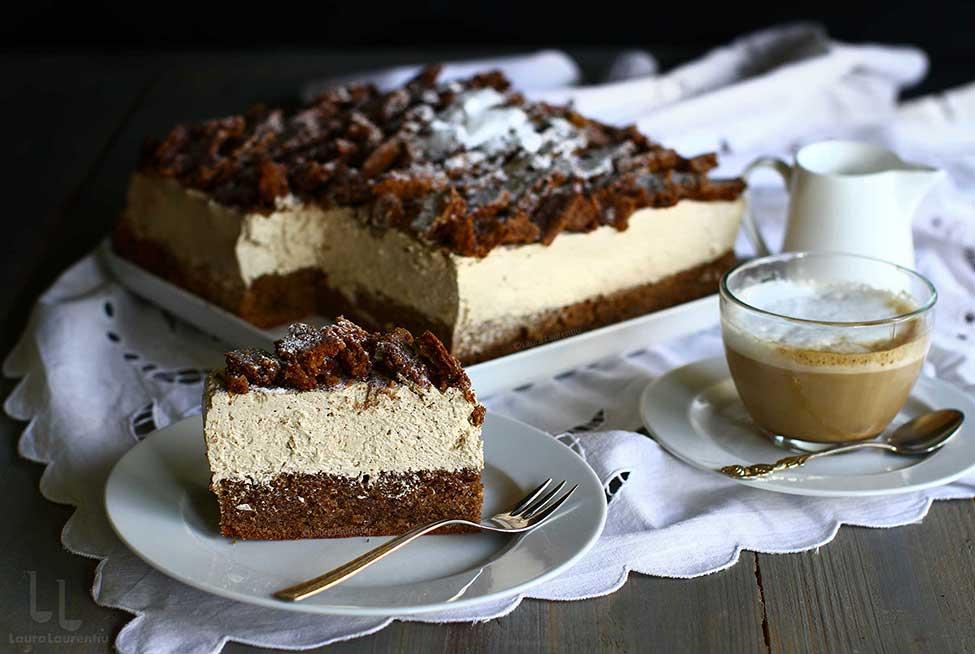 prajitura cu crema de cafea si alune de padure reteta phillipe conticini prezentata de laura laurentiu